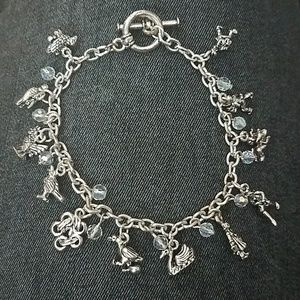 Jewelry - Nights of Christmas Silver Charm Bracelet
